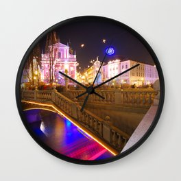 Ljubljana Lights Wall Clock