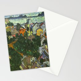 Egon Schiele Summer Landscape Stationery Cards