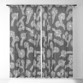 Joshua Tree Pattern by CREYES Sheer Curtain
