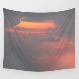 Cloudy Sunset Wall Tapestry