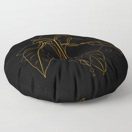 Gold Philodendron Joepii Floor Pillow
