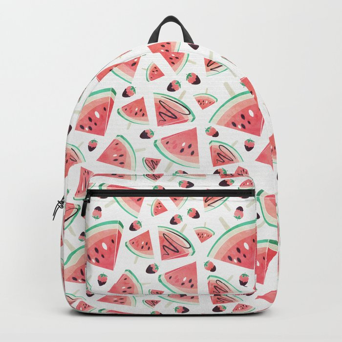 Watermelon popsicles, strawberries and chocolate Backpack