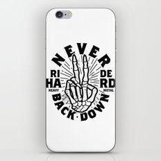 Never Back Down iPhone Skin