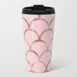 Rose gold mermaid scales Travel Mug