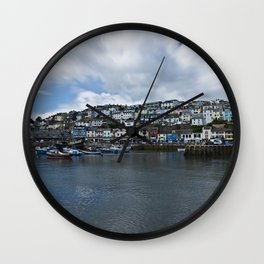 Brixham The Colourful Harbour Wall Clock