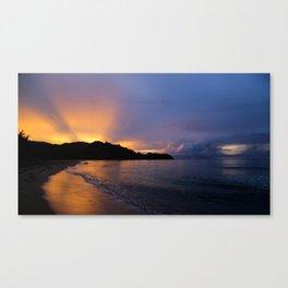 Perfect Hanalei Bay Sunset Canvas Print