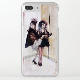 New Years Gals Clear iPhone Case