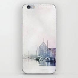 Greifswald Northeast Germany Harbour iPhone Skin