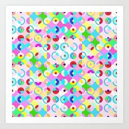 Circle Quarters Art Print