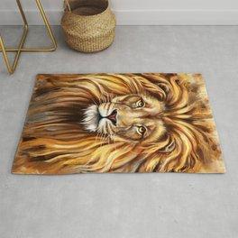 Artistic Lion Face Rug