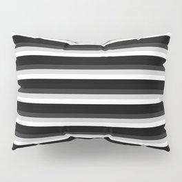 Stripes Black Gray & White Ombre Pillow Sham