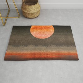 """Sabana night light moon & stars"" Rug"