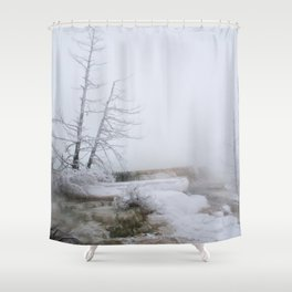 Steam and Snow Shower Curtain