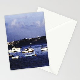 Portugal fishing harbour digital painting  Stationery Cards