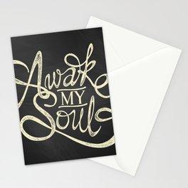 Awake my Soul WHITE Stationery Cards