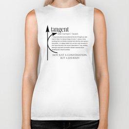 ADHD Shirt - Definition of Tangent Conversation Biker Tank