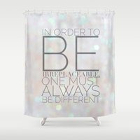 coco Shower Curtains featuring COCO by REASONandRHYME