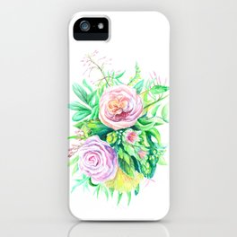 Pink and Green Symphony iPhone Case