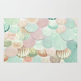 MERMAID SHELLS - MINT & ROSEGOLD Rug