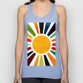 Sun Retro Art Unisex Tank Top
