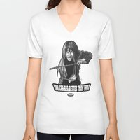 "kill bill V-neck T-shirts featuring Gogo Yubari from ""Kill Bill Vol. 1"" by Andysocial Industries"