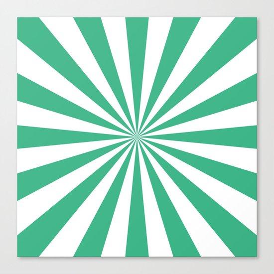 Starburst (Mint/White) Canvas Print