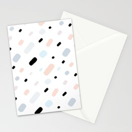 colorful confetti on white background Stationery Cards