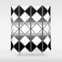 triangles Shower Curtains featuring Triangles by VanessaGF