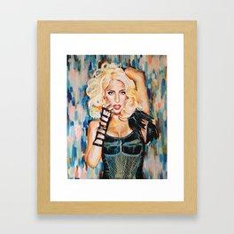 Lady singer  Framed Art Print