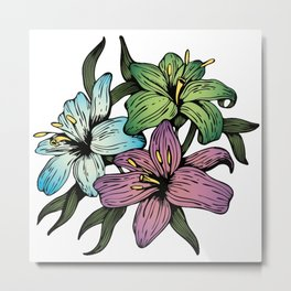 Bloomed Flowers Metal Print
