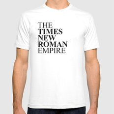 THE TIMES NEW ROMAN EMPIRE Mens Fitted Tee MEDIUM White