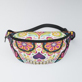 Psychedelic Sugar Skull - Colorful Art by Thaneeya McArdle Fanny Pack