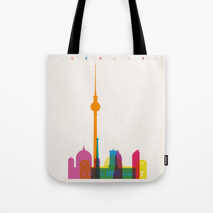 Shapes of Berlin accurate to scale Tote Bag