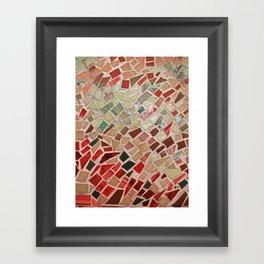 Razzle Red Mosaic Framed Art Print