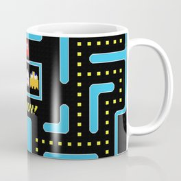 pac-man blue Coffee Mug