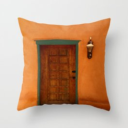 A Santa Fe  Door Throw Pillow
