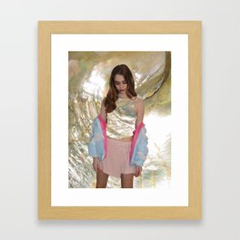 Mother of Pearl Edit Framed Art Print