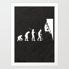 ROCK CLIMBING EVOLUTION Art Print