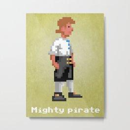 Mighty Pirate V2 Metal Print