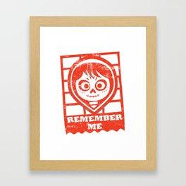Remember me Framed Art Print