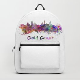 Gold Coast skyline in watercolor Backpack