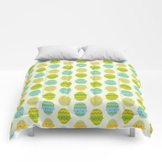 Kawaii Easter Eggs Comforters