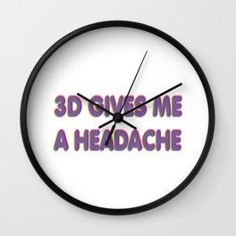 3D Headache Wall Clock