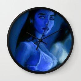 Blue Morphos Wall Clock