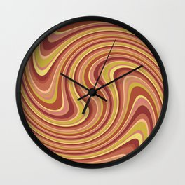 Twist and Shout-Canyon colorway Wall Clock