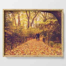 Fall Foliage - Autumn's Finest - New York City Serving Tray