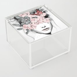 WOMAN WITH FLOWERS 10 Acrylic Box