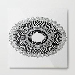 A4 Mandala 4 Metal Print