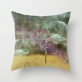 Laundry Line in Abstract Throw Pillow