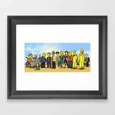 Breaking Bad cast Framed Art Print
